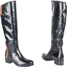 Genuine leather Men's Boot PNG