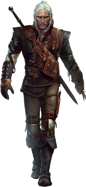 Geralt Of Rivia Withcer 1 PNG