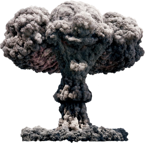 Big Giant Smoke Explosion PNG