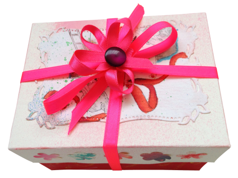 Pink Present  PNG