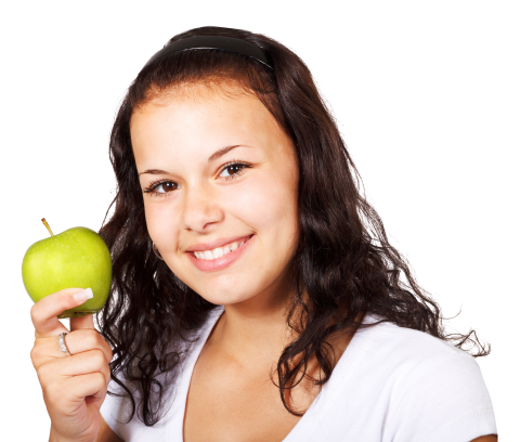 Girl with Apple PNG