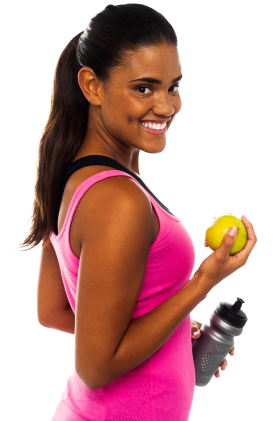Girl With Fruits PNG