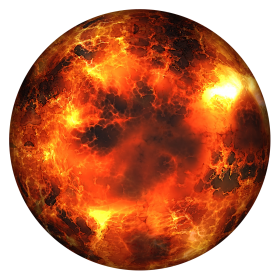 Globe Burning PNG