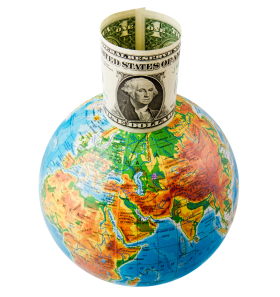 Globe With Dollar PNG