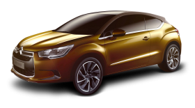 Gold Citroen DS High Rider Car PNG