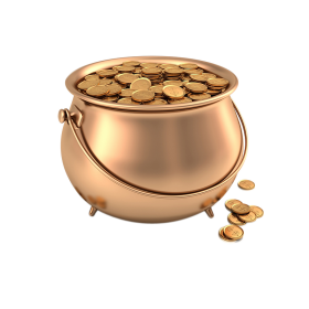 Gold Coins In Pot PNG