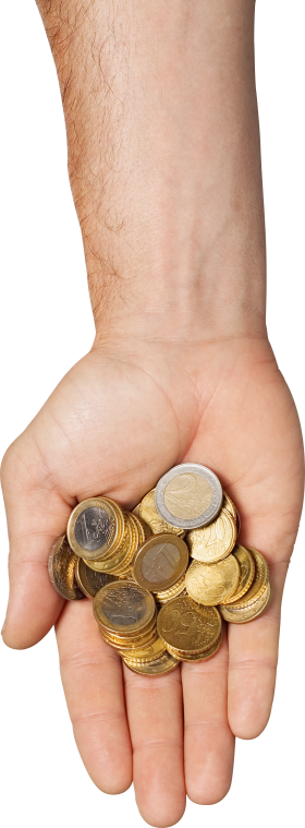 Gold Coins On Hand PNG