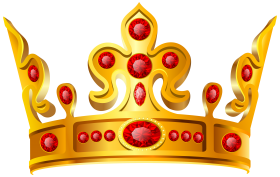 Gold Crown Red Stone PNG