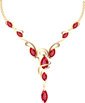 Gold Diamond Necklace PNG