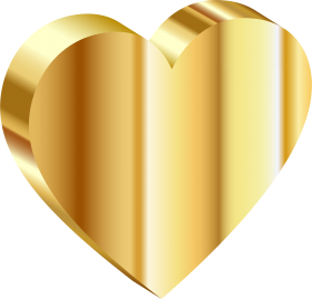Gold Heart PNG