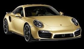 Gold Porsche 911 Turbo Aerokit Car PNG
