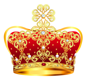 Gold & Red Crown PNG