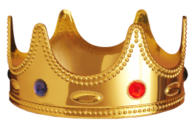 Gold  Red Crown PNG
