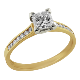 Gold Ring Diamond PNG