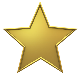Golden Christmas Star PNG