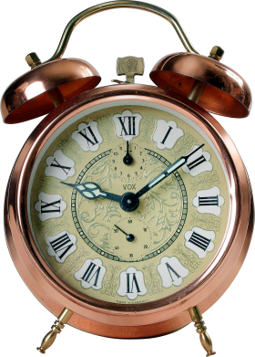 Golden Alarm Clock PNG