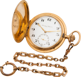 Golden Chain Stop Watch PNG
