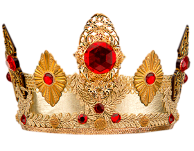 Golden Crown With Stone PNG