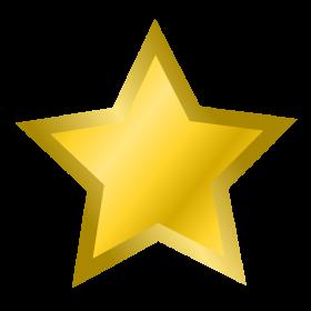 Golden Star PNG