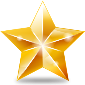 Sparkling Golden Star PNG