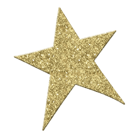 Glittering Golden Star PNG