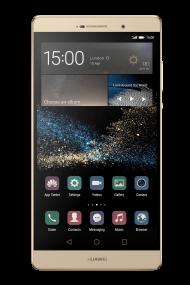 Golden Whide Huawai Smartphone PNG