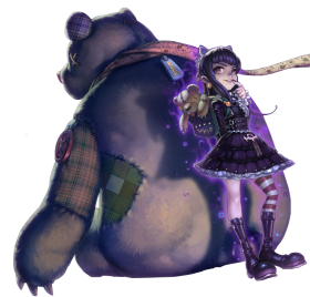 Goth Annie Skin with Tibbers PNG