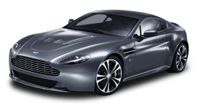 Gray Aston Martin V12 Vantage Car PNG