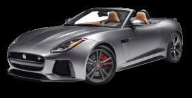Gray Jaguar F TYPE SVR Convertible Car PNG