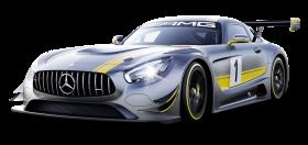 Gray Mercedes Benz Race Car PNG