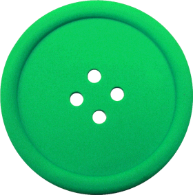 Greeen Sewing Button With 4 Hole PNG