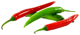 Green and Red Chilli PNG