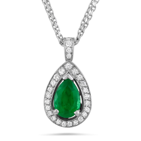 Green Diamond Pendant PNG