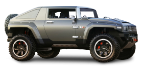 Green Hummer HX Car PNG