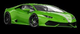 Green Lamborghini Huracan Car PNG