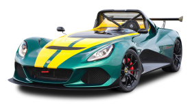 Green Lotus 3 Eleven Sports Car PNG