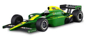 Green Lotus Cosworth Racing Car PNG