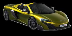 Green McLaren 675LT Spider Super Car PNG