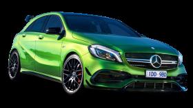 Green Mercedes Benz A Class Car PNG