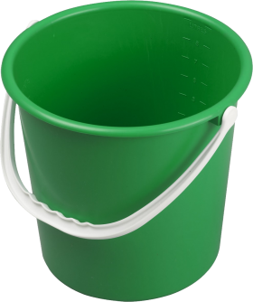 Green PLastic Bucket PNG