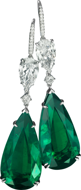 Green Stone Earring PNG