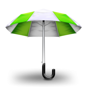 Green Umbrela PNG
