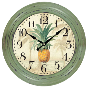 Green Wall Clock PNG