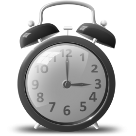 Grey Alarm Clock PNG