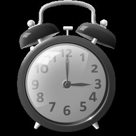 Grey Alarm Clock PNG