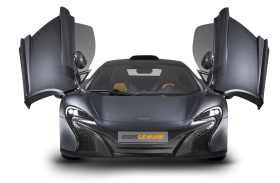 Grey McLaren 650S Door Open Car PNG