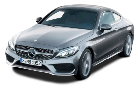 Grey Mercedes Benz C Class Coupe Car PNG