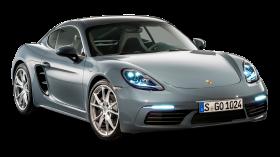 Grey Porsche 718 Cayma Car PNG
