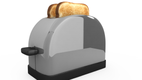 Grey Toaster PNG
