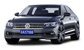 Grey Volkswagen Phideon luxury Car PNG